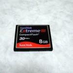 SanDisk Extreme III CompactFlash 8GB データ復旧