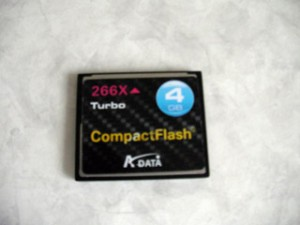 CompactFlash Turbo 4GB 266X A-DATA