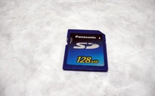 Panasonic SDカード 128MB データ復旧