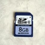 SDHCカード 8GB データ復旧