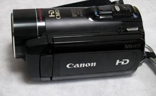 Canon IVIS HF21 データ削除