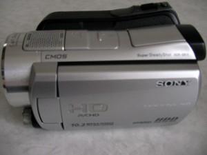 SONY HDR-SR11 ハンディカム データ一部消去