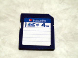 SDHCカード 4GB Verbatim データ復旧