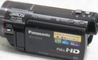 ビデオカメラのデータを全消去した。 Panasonic HDC-TM700