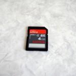 SDカード SanDisk 4GB