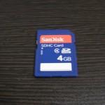 CASIO EXILIM SDカード 4GB SanDisk データ復旧 大阪府阪南市のお客様