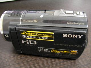 SONY HDR-CX520V データが消えた 千葉県千葉市のお客様