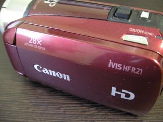 ビデオカメラのデータ復旧 Canon iVIS HF R21 埼玉県上尾市