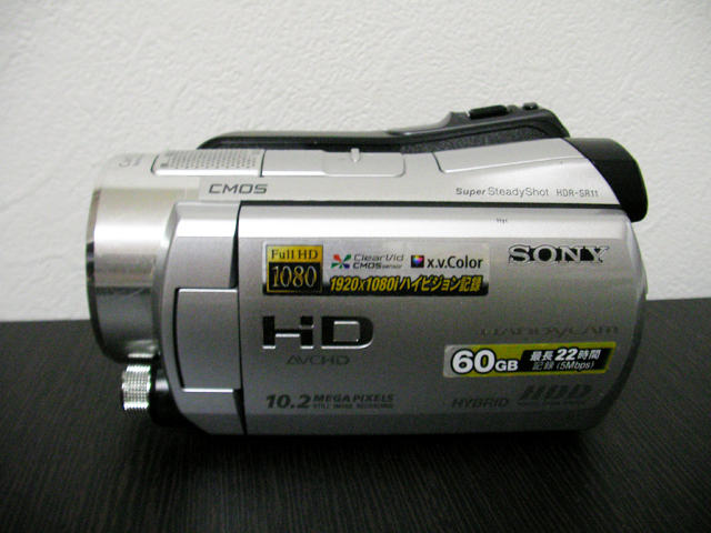 HDR-SR11 ソニー ハンディカム データ復旧