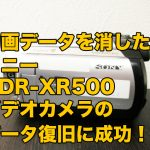 ソニー ハンディカムデータ復旧 HDR-XR500V