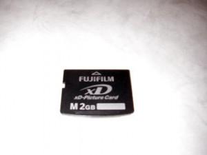 オリンパスμ830 XD Picture Card 2GB カード初期化
