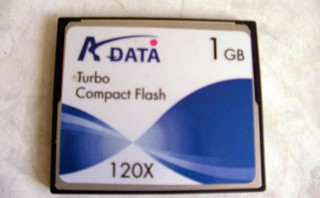 A-DATA 1GB Turbo Compact Flash フォーマット