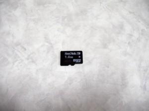 SANDISK microSDカード 1GB au 携帯電話で使用